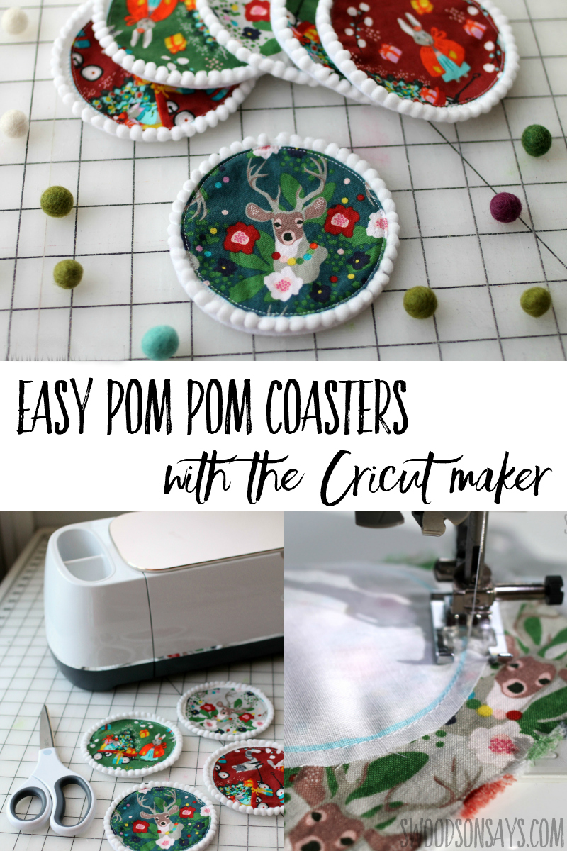 See how to sew perfect coasters with a Cricut Maker! Instructions included if you don't have a Cricut but this is a great sewing project to use your Maker with. Sew festive coasters with this easy sewing tutorial.
