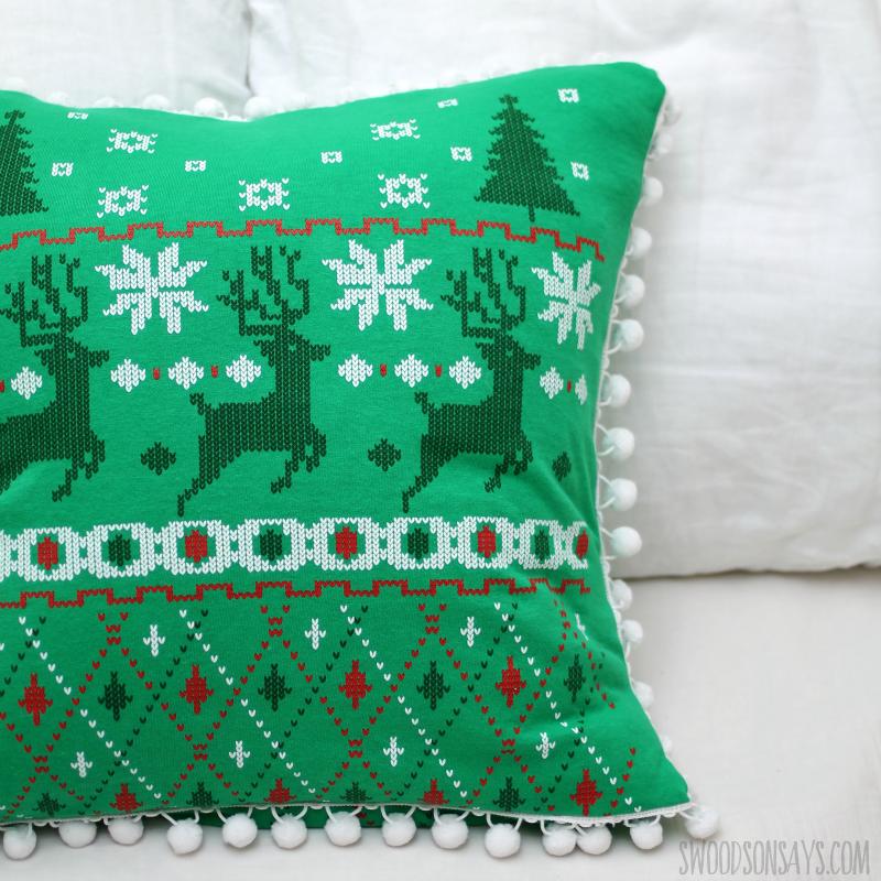 modern christmas pillow sewing