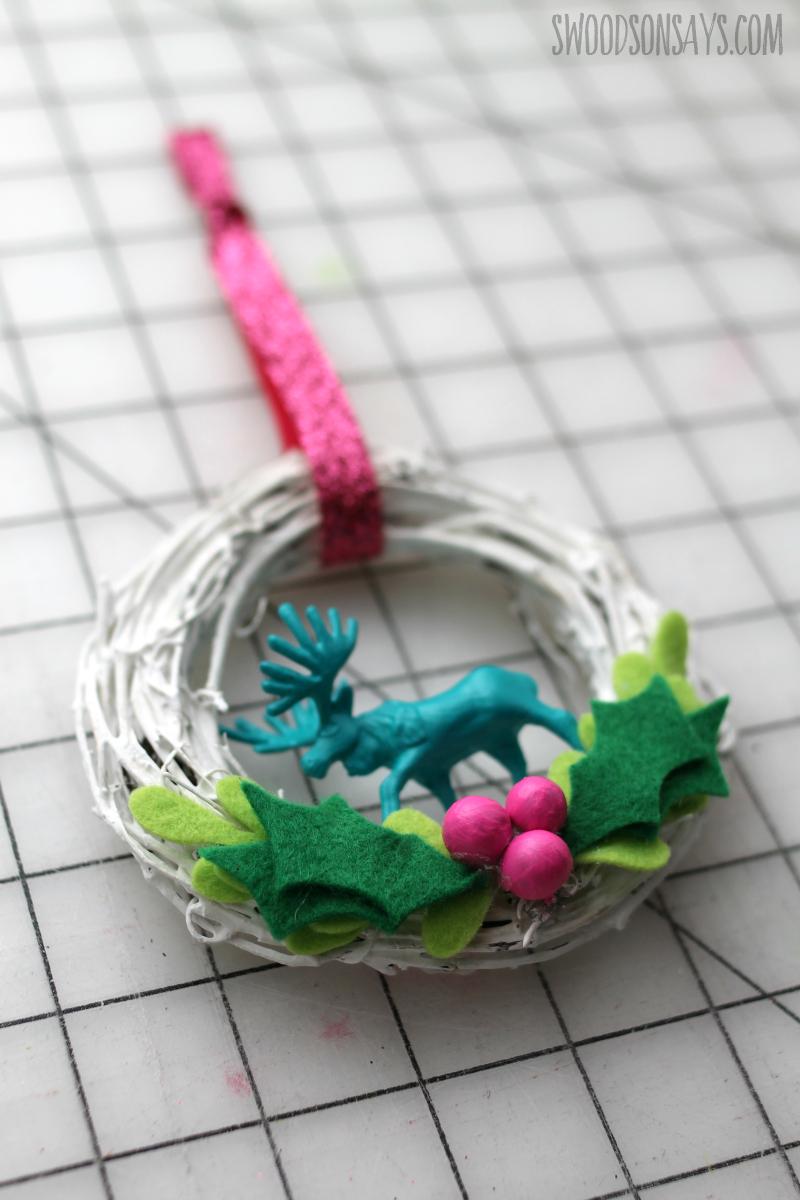 plastic animal figurine ornament diy