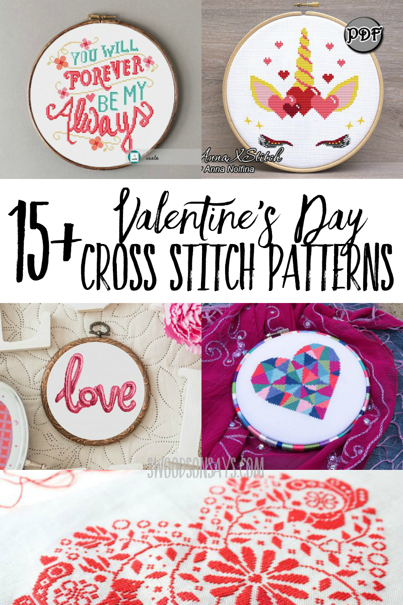 Stitch up something sweet (or sassy!) with one of these Valentines Day cross stitch patterns. Several heart cross stitch designs and other creative love motifs.