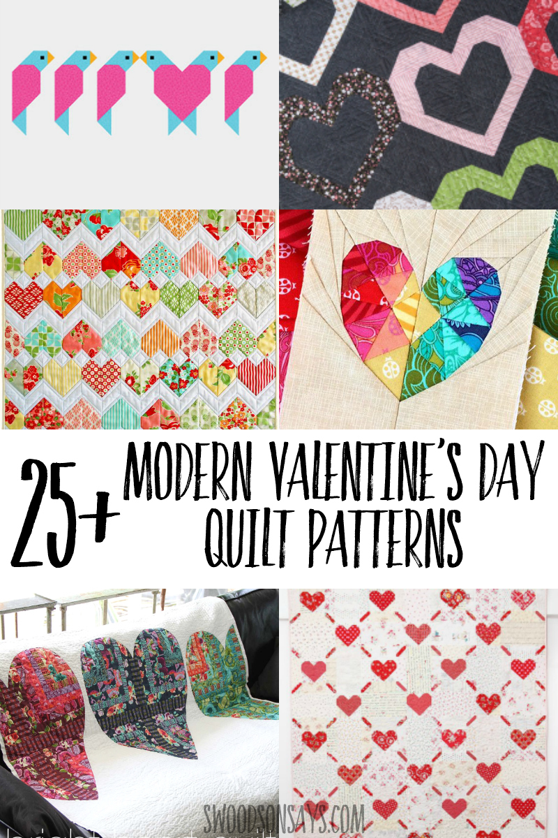 Sew something festive with one of these Valentine's Day quilt patterns! A whole bunch of free heart quilt tutorials included, there is something for every size and style. Great valentine's day sewing project ideas or handmade valentine gifts.