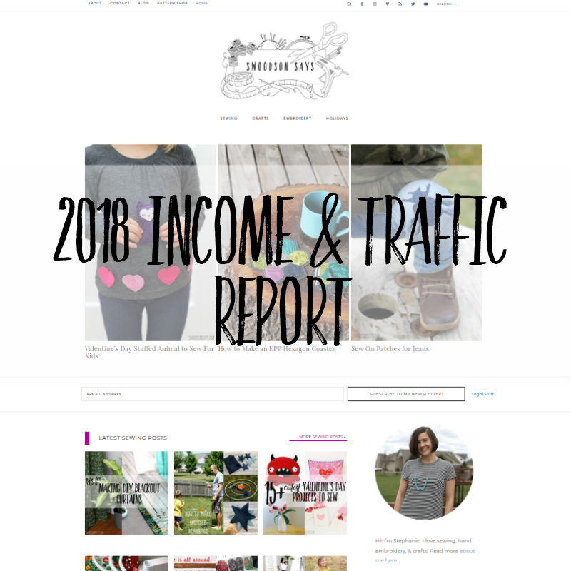 craft sewing blog income report