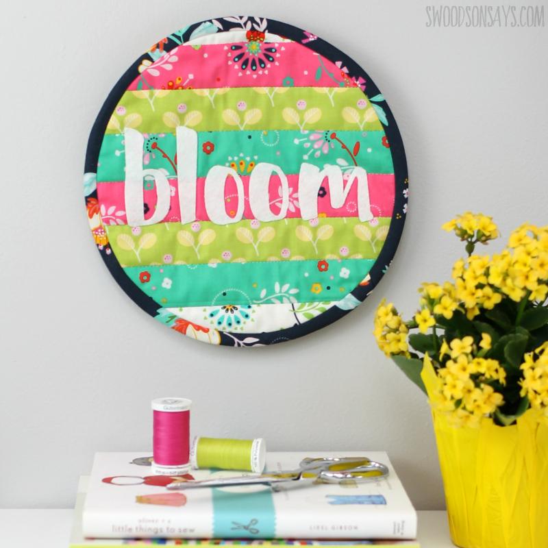 spring floral mini quilt tutorial