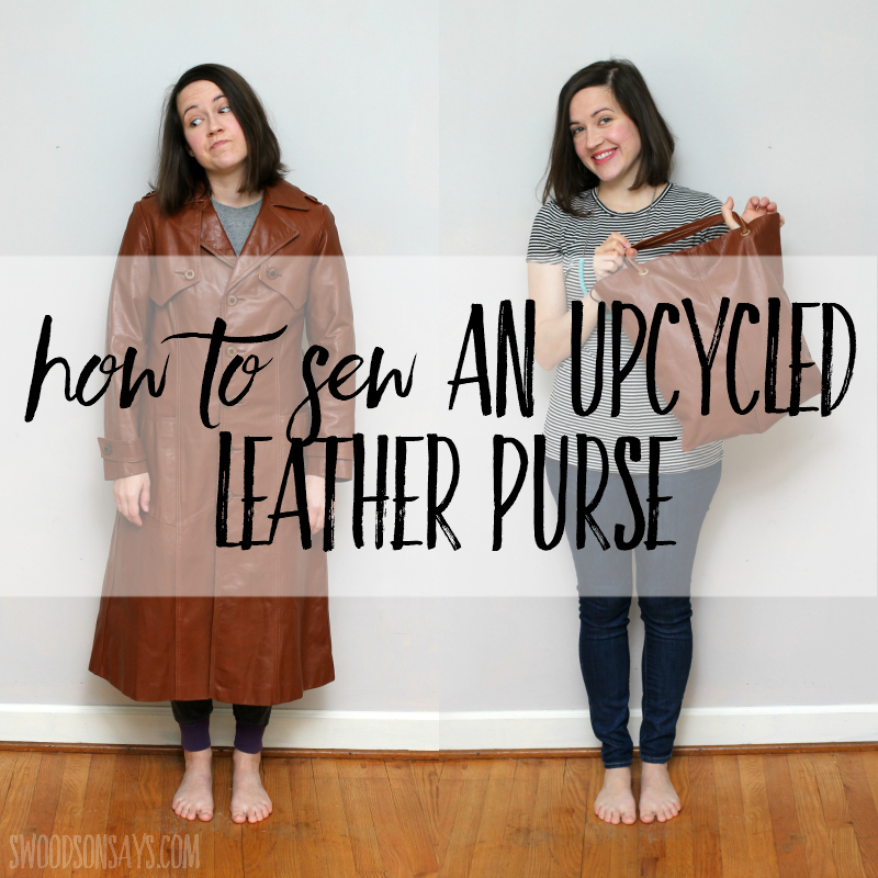 Sewing tutorial: Upcycled leather bag