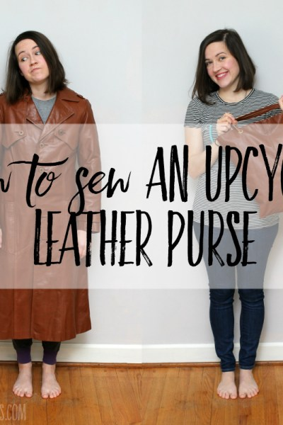 How to sew an upcycled leather purse