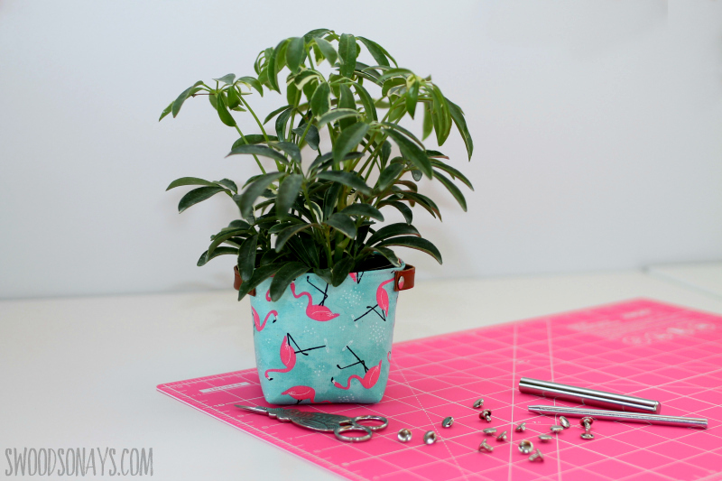 fat quarter sewing project fabric bucket