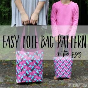 easy tote bag pattern