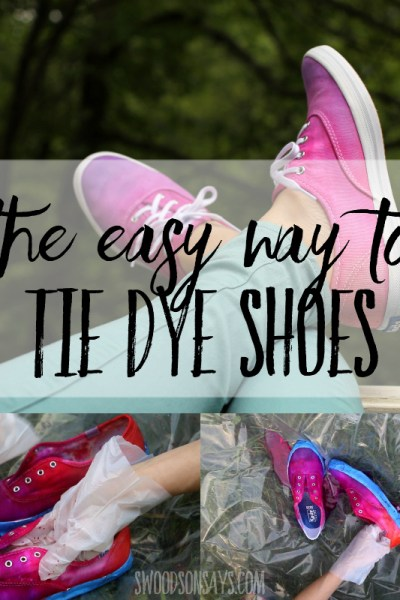 how to tie dye shoes