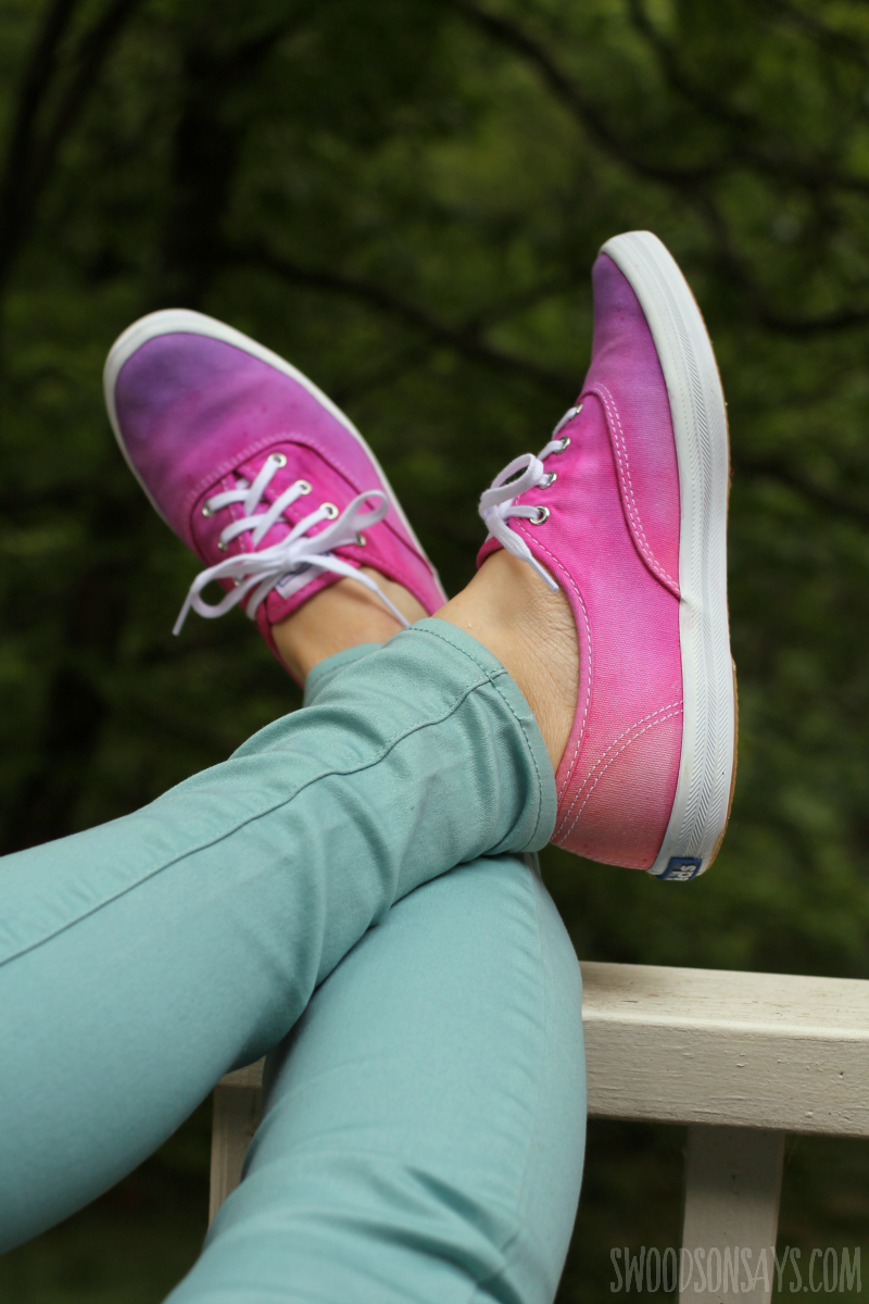 pink tie dye shoes