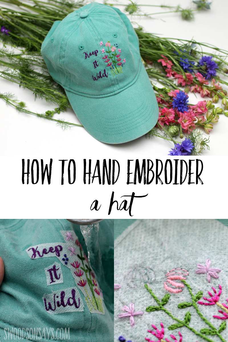 hand embroidered baseball cap