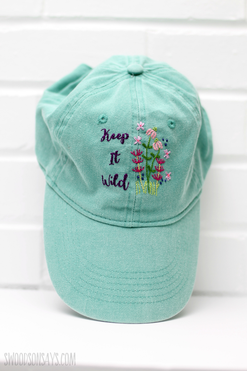 hand embroidered hat diy
