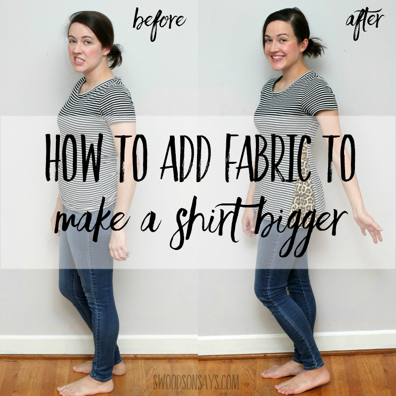 Sewing tutorial: Side panel t-shirt refashion