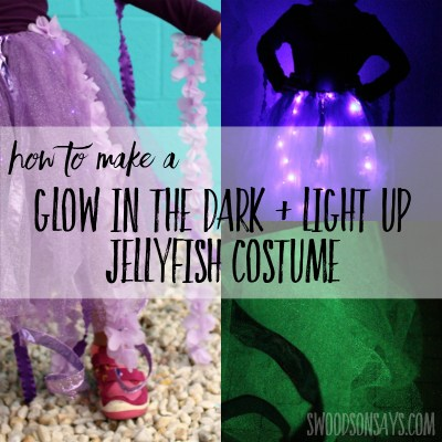 Glow in the dark diy jellyfish costume tutorial