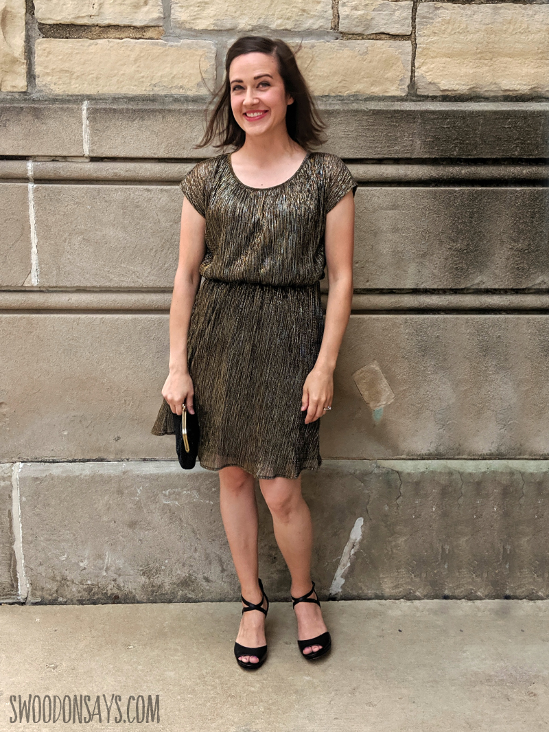 metallic dress for a wedding top sewing blogger