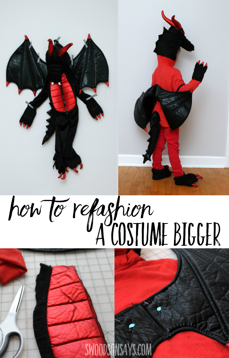 upcycled halloween costume hoodie
