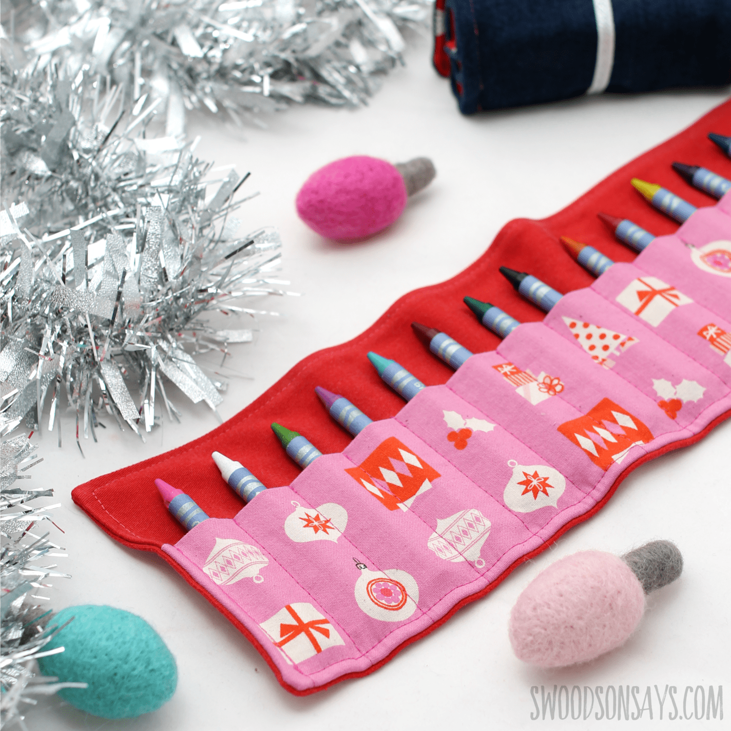 beginner sewing tutorial for a crayon roll up holder