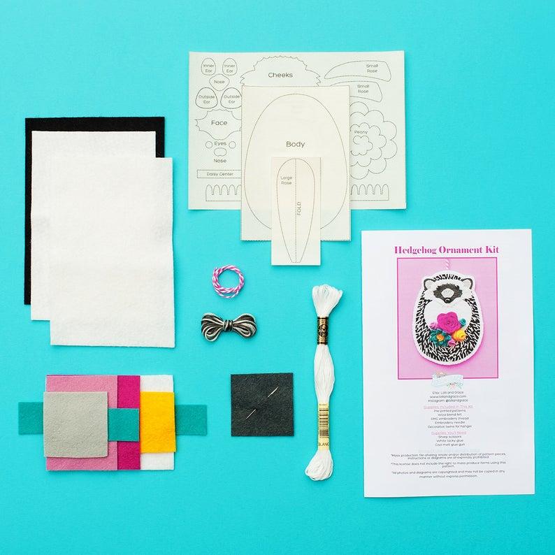 felt ornament sewing kit