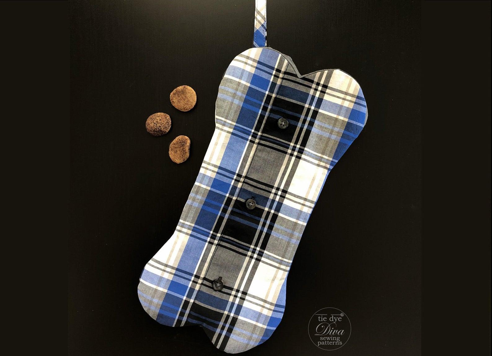 dog bone shaped stocking pattern