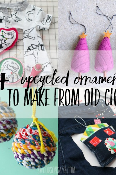 10+ textile upcycled christmas ornaments