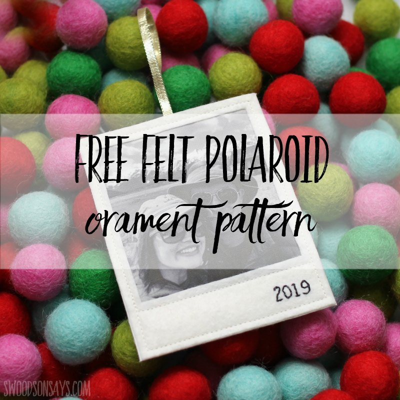Free p attern: Felt Polaroid Christmas ornament