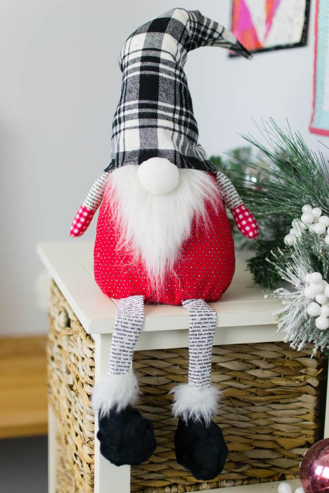 free christmas gnome pattern