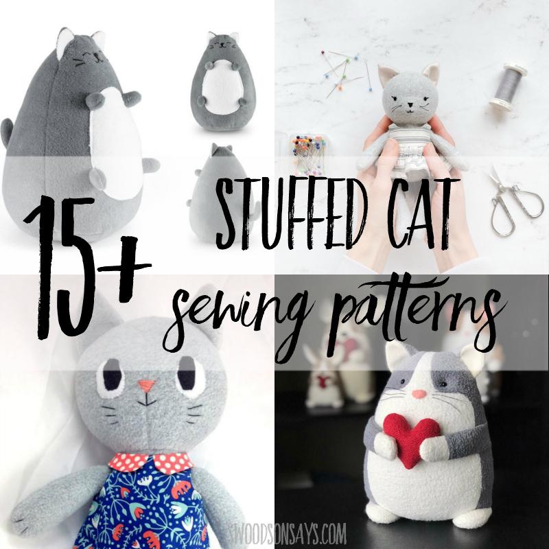 15+ stuffed cat sewing patterns