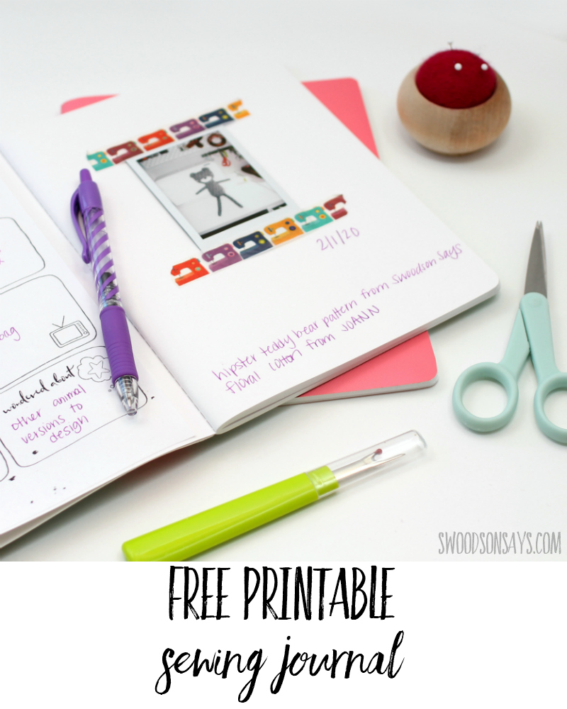 Free sewing journal template