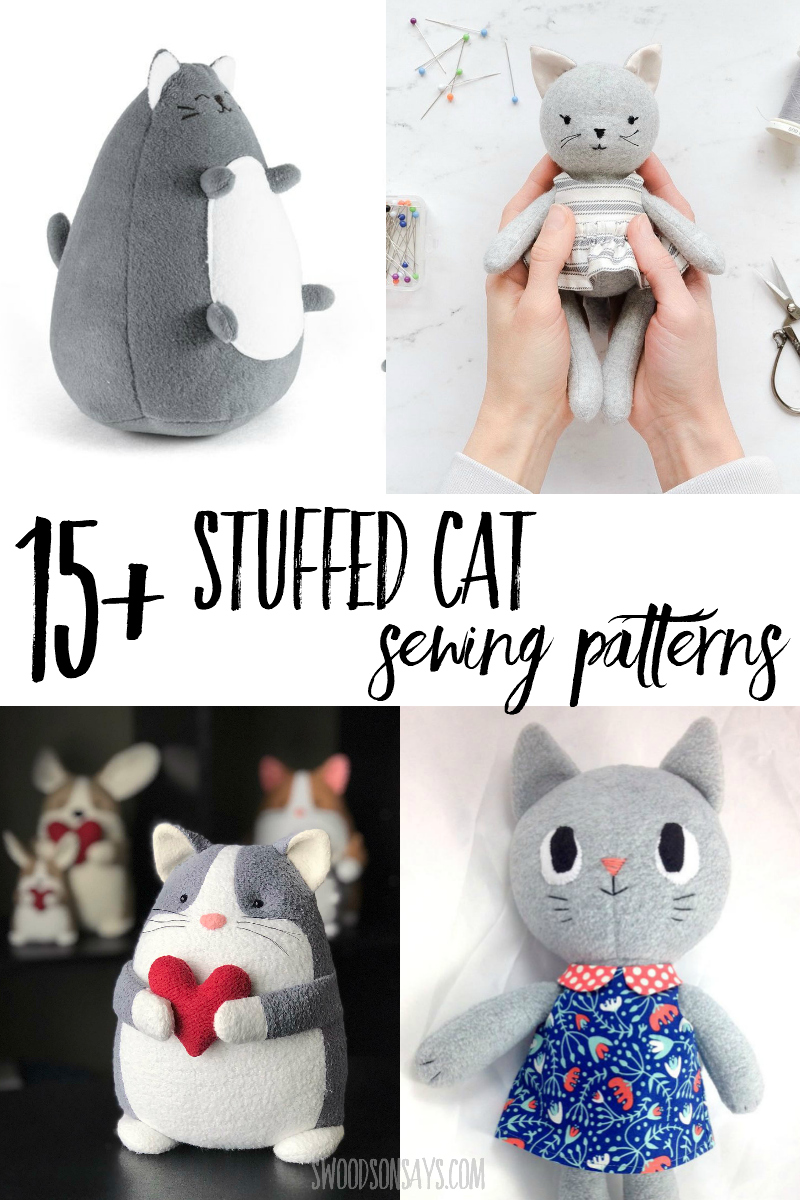 cat stuffed animal sewing patterns