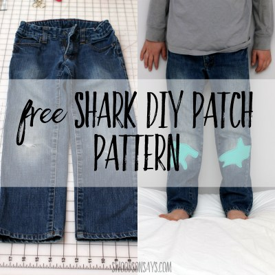 Free shark diy patch tutorial