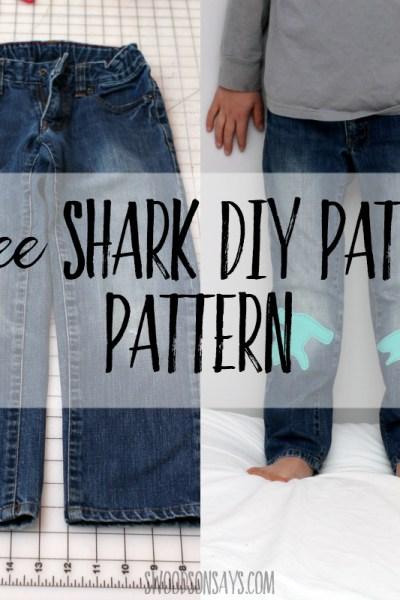 Free shark diy patch tutorial