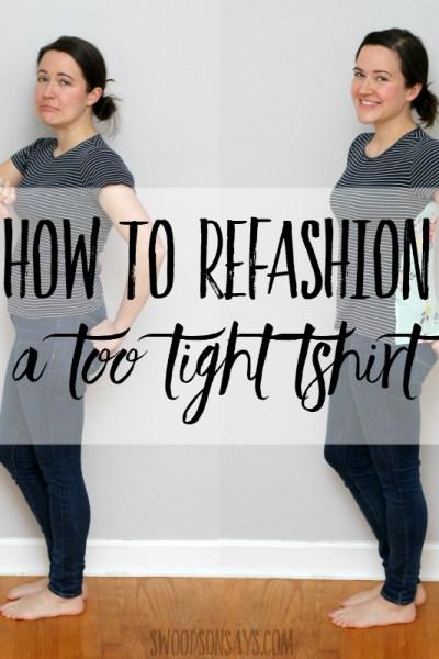 How to make a t shirt bigger