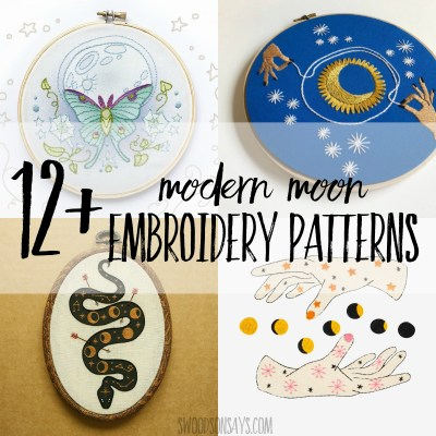 12+ moon embroidery patterns