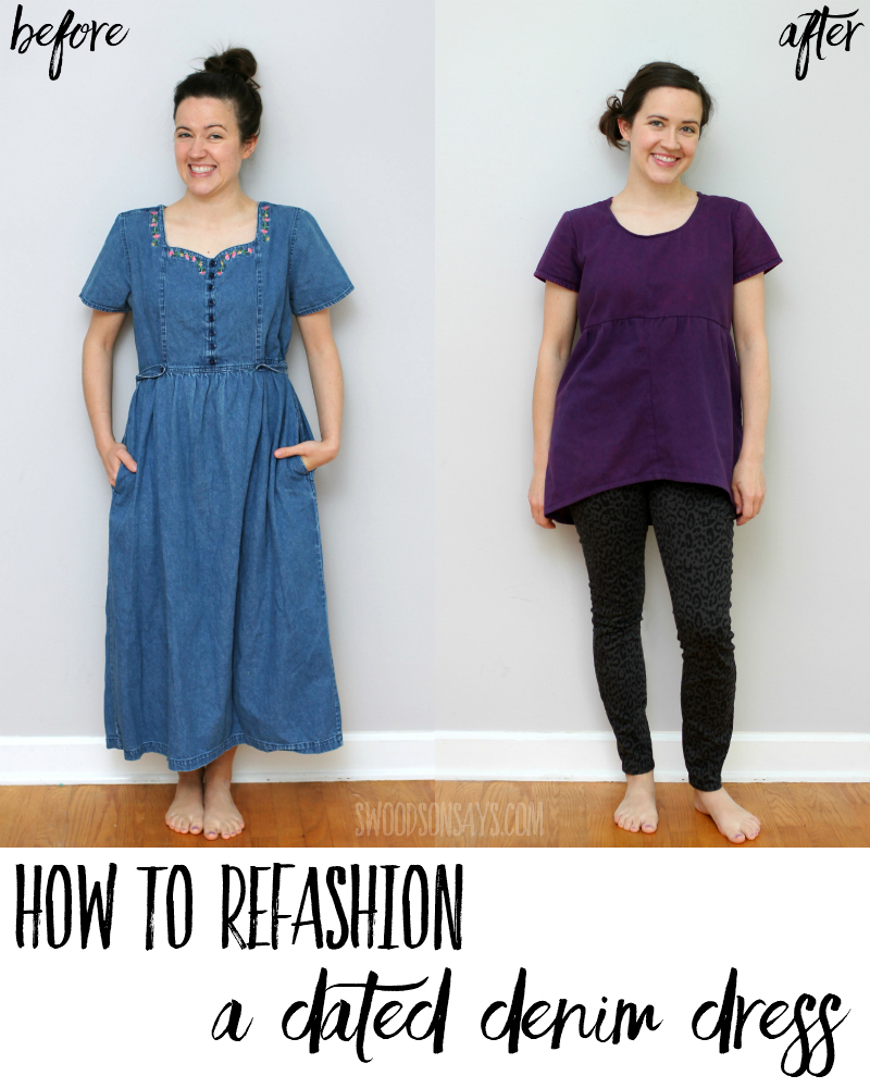 dress refashion tutorial
