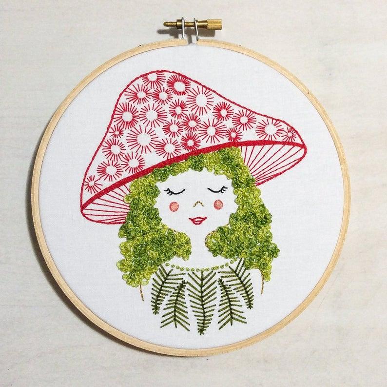 mushroom girl pattern