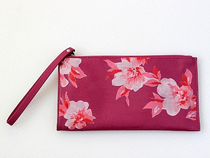 decoupaged purse refashion