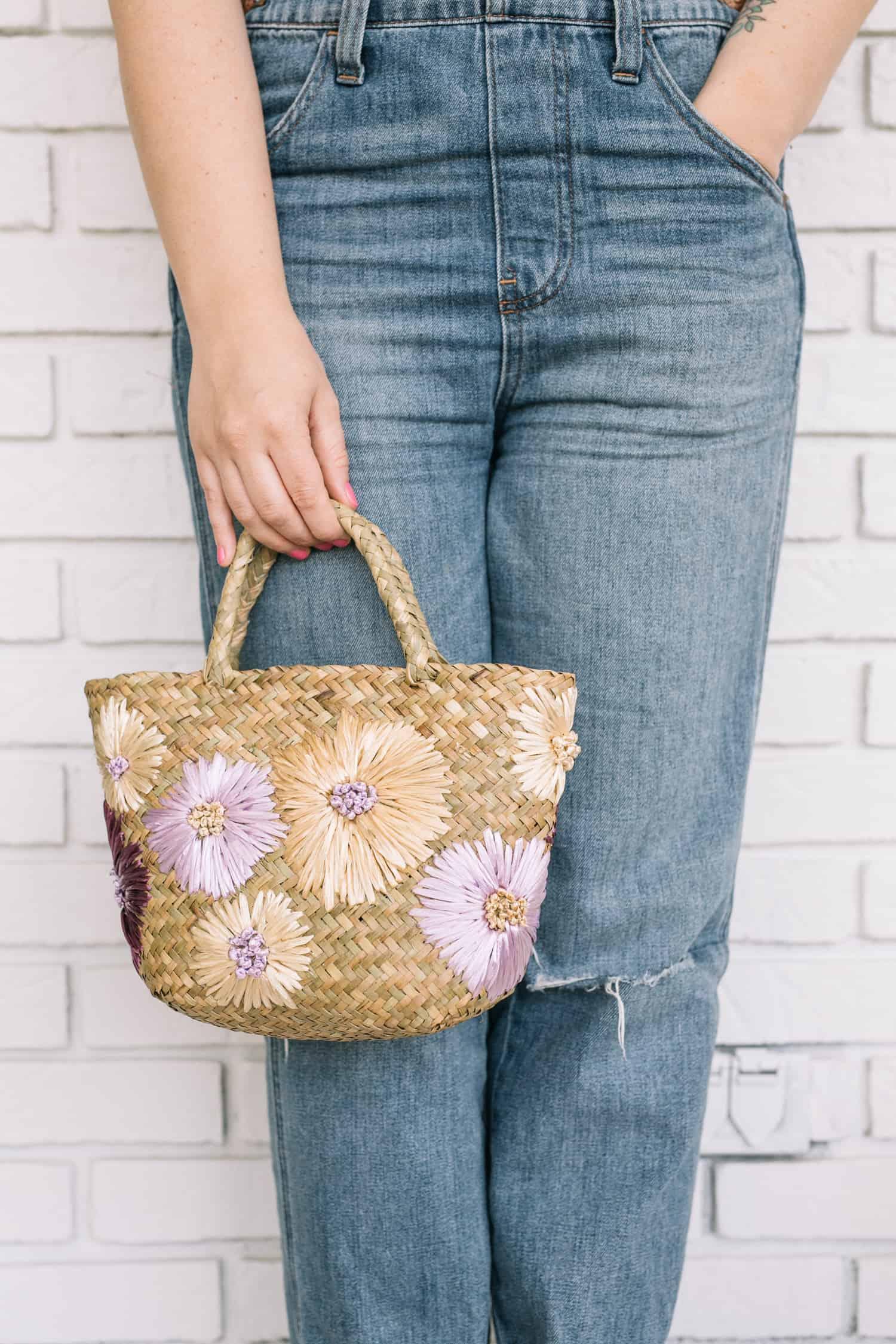 hand stitched straw purse tutorial
