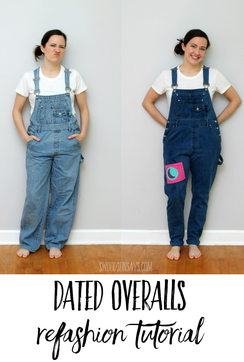 overalls refashion tutorial
