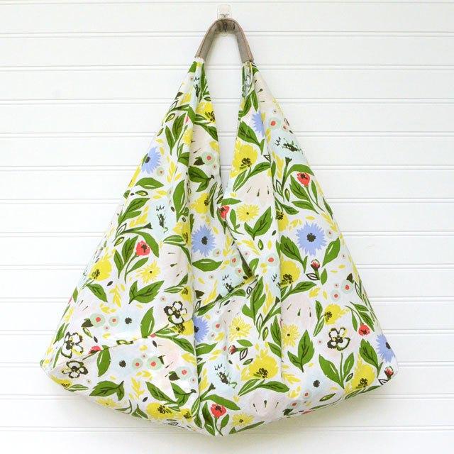 upcycled tea towel bag