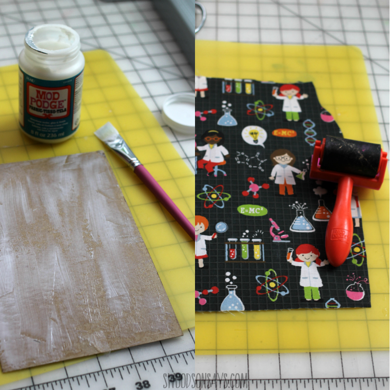 fabric mod podge project