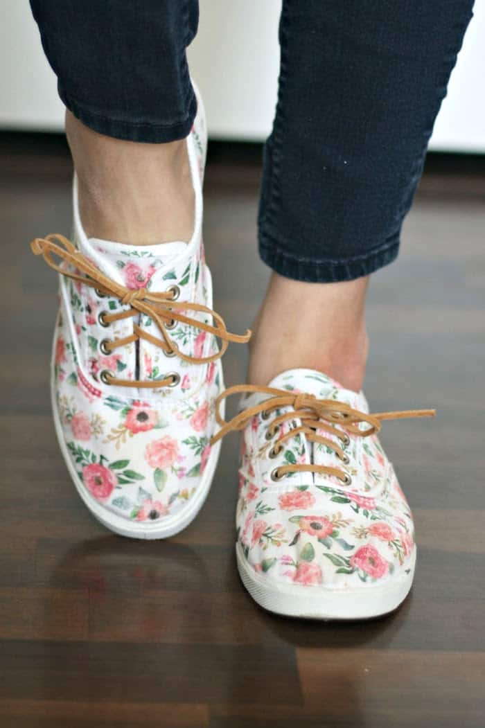 fabric shoe refashion
