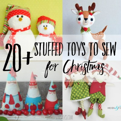 20+ Christmas stuffed animal sewing patterns