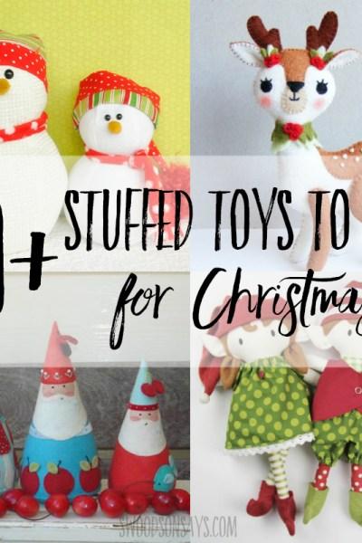 20+ Christmas stuffed animal sewing patterns