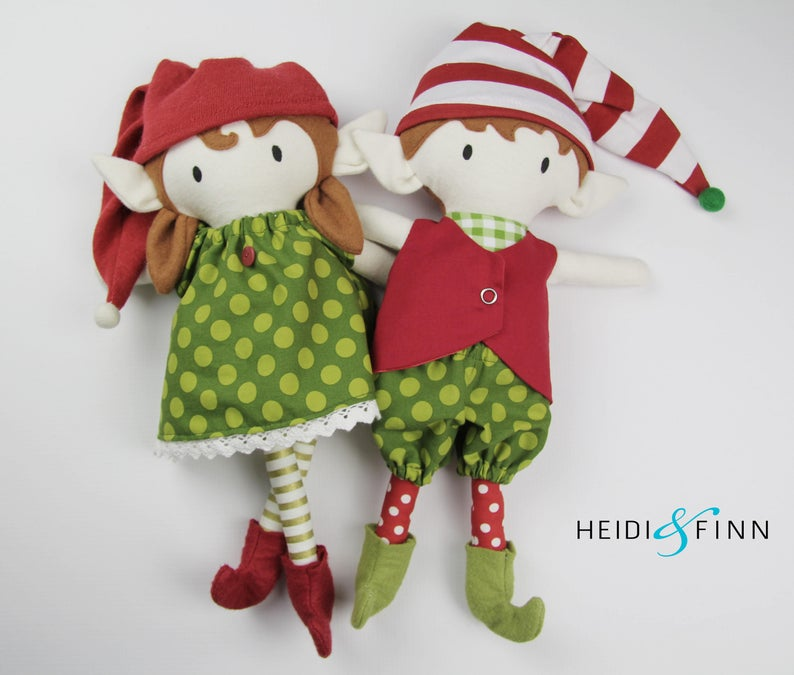 christmas elf stuffed toy pattern