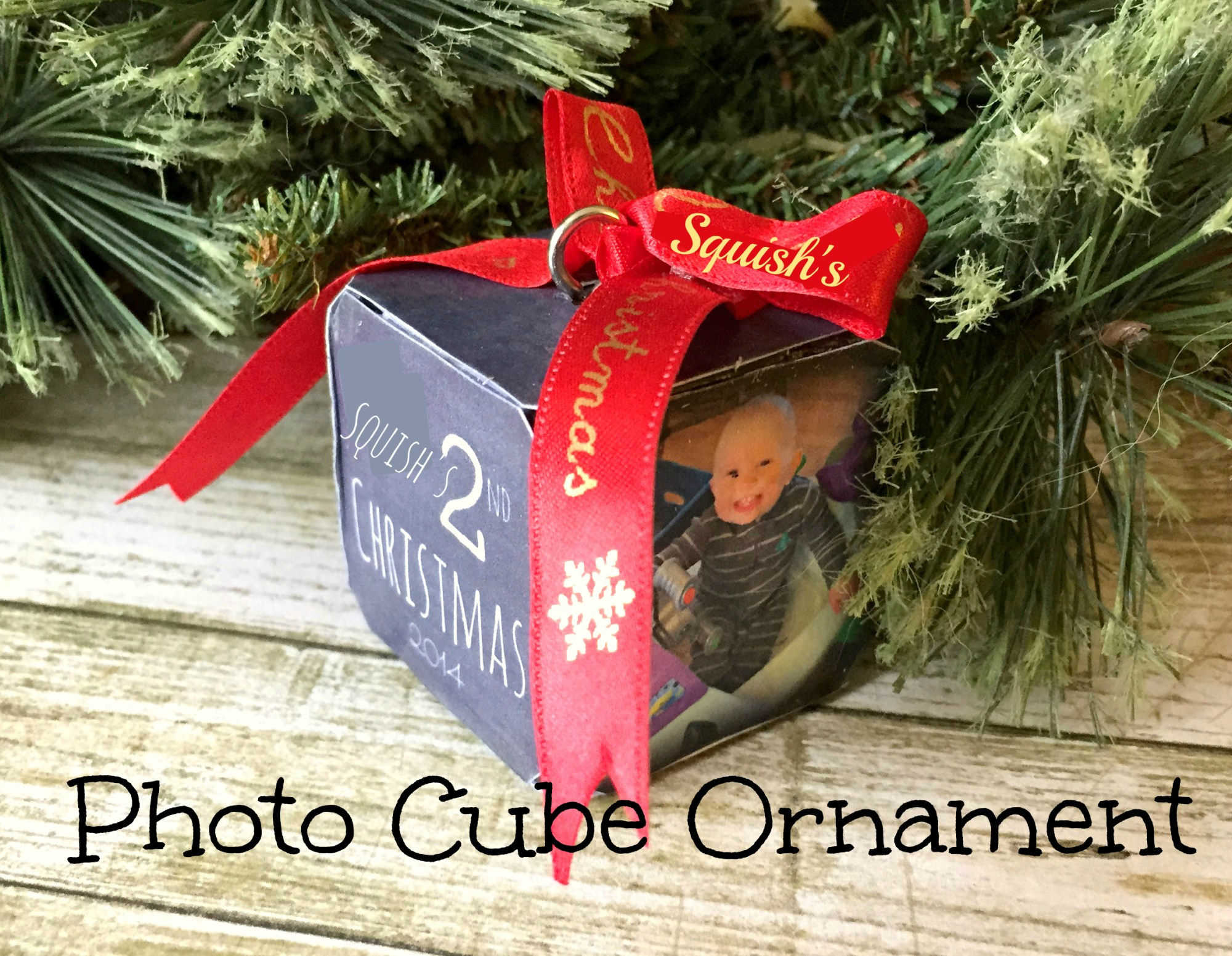 diy photo cube ornament