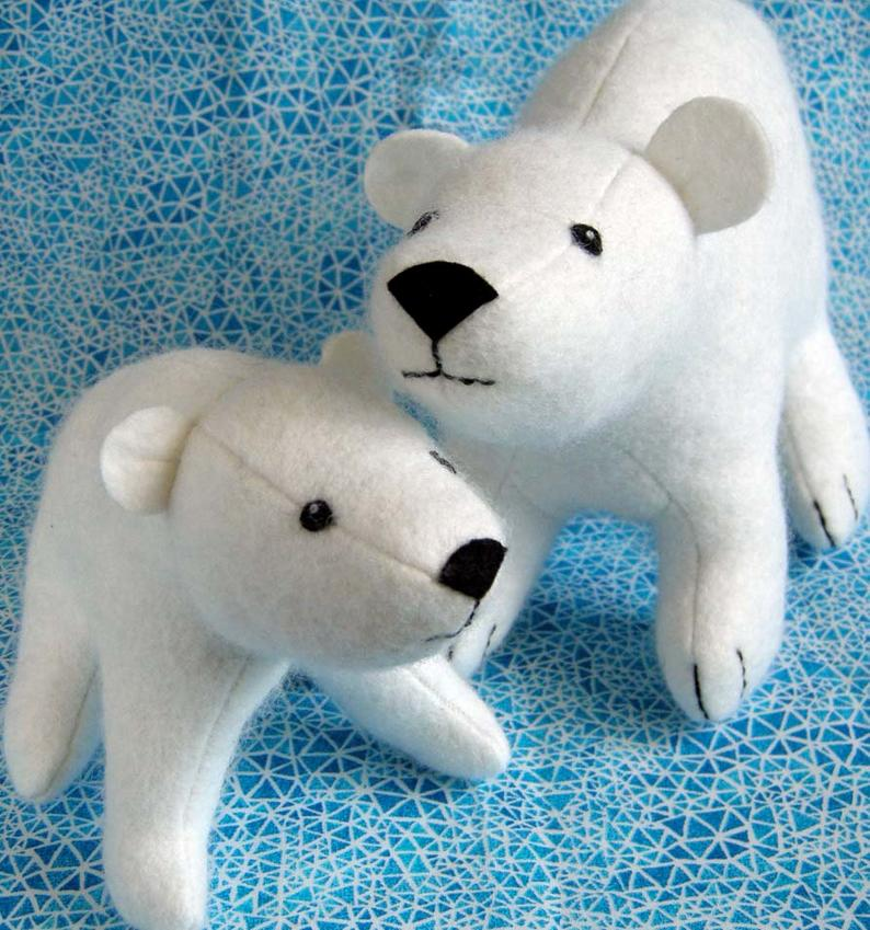 polar bear stuffed animal pattern