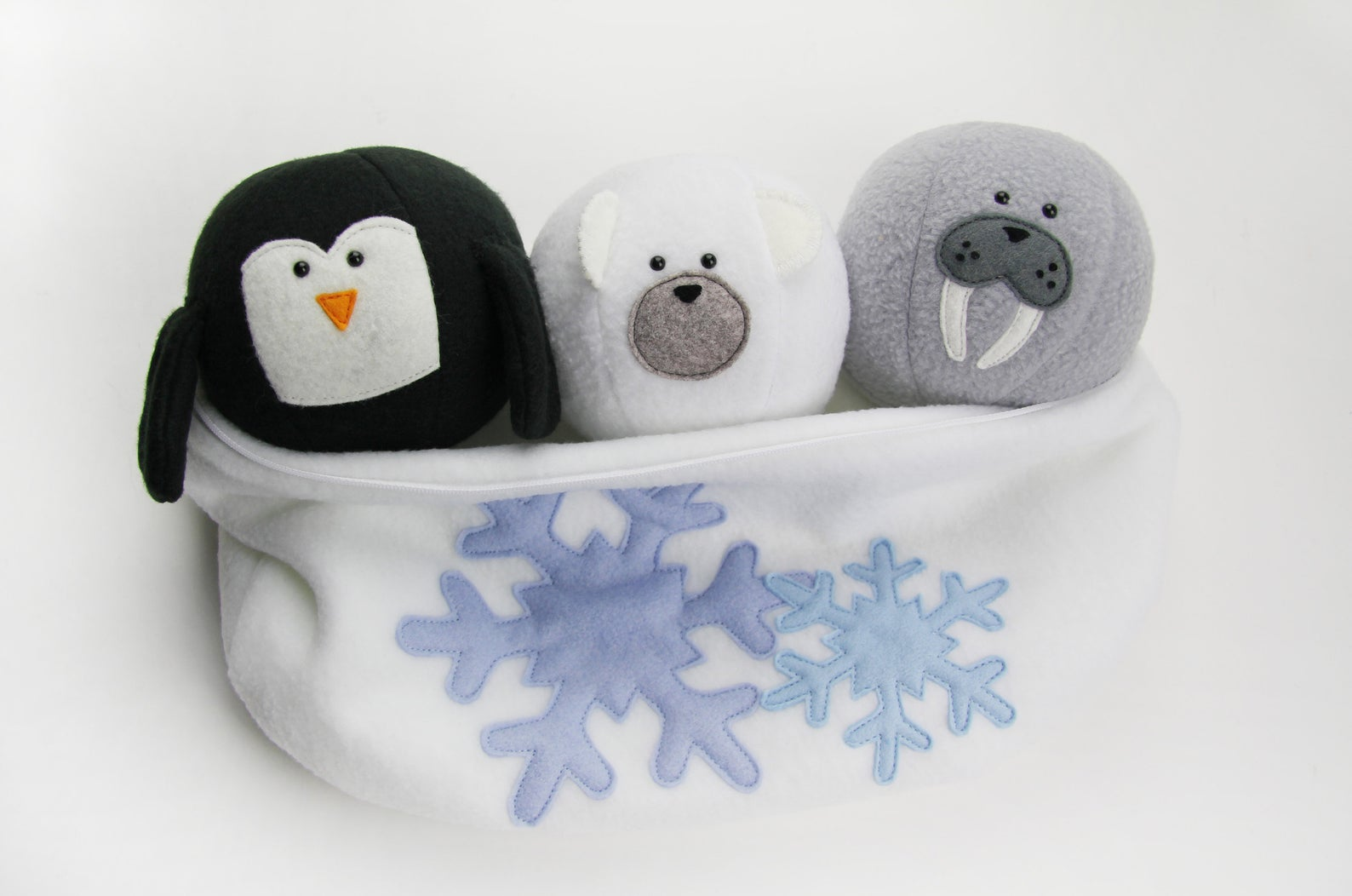 soft winter animal sewing pattern