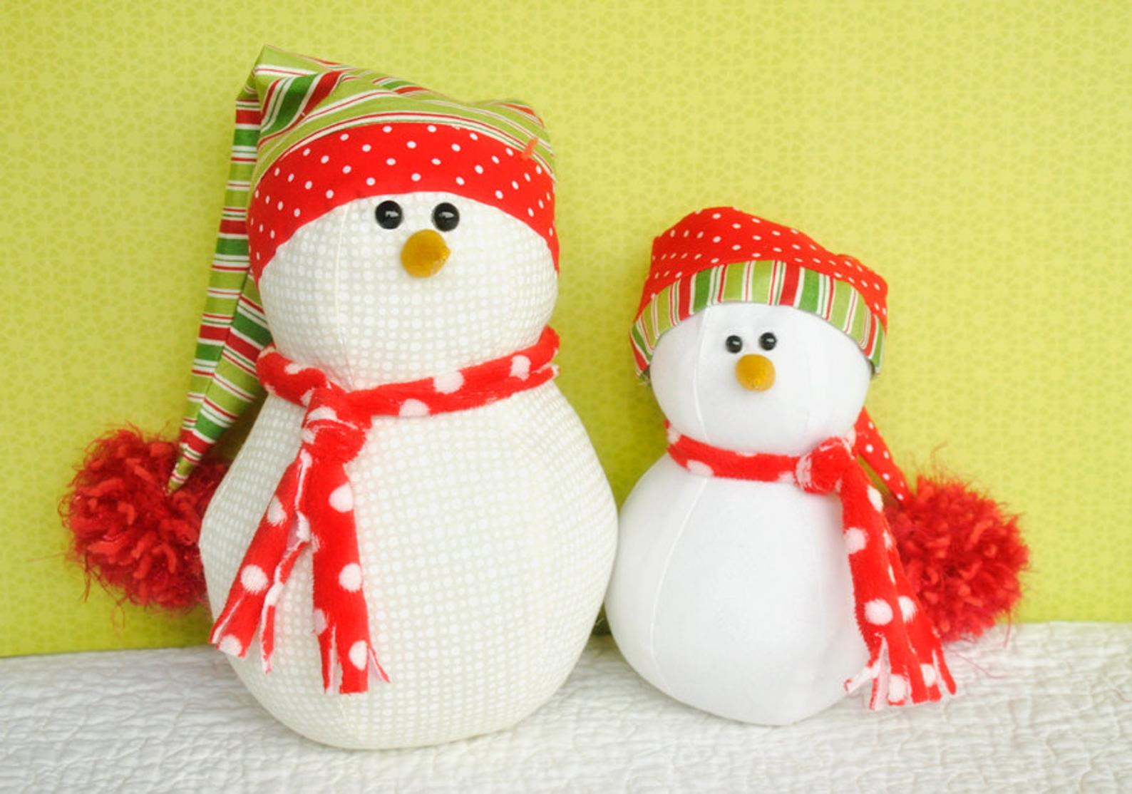 stuffed snowman sewing pattern