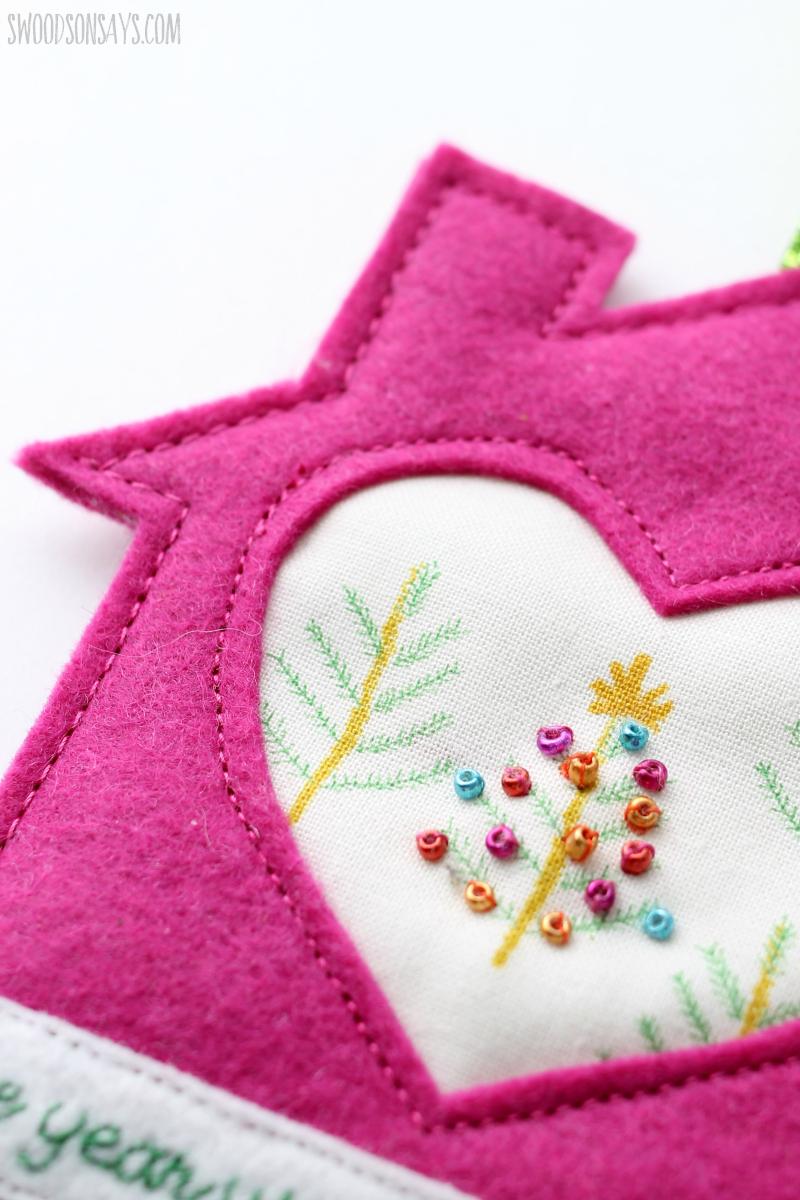 beaded christmas ornament tutorial