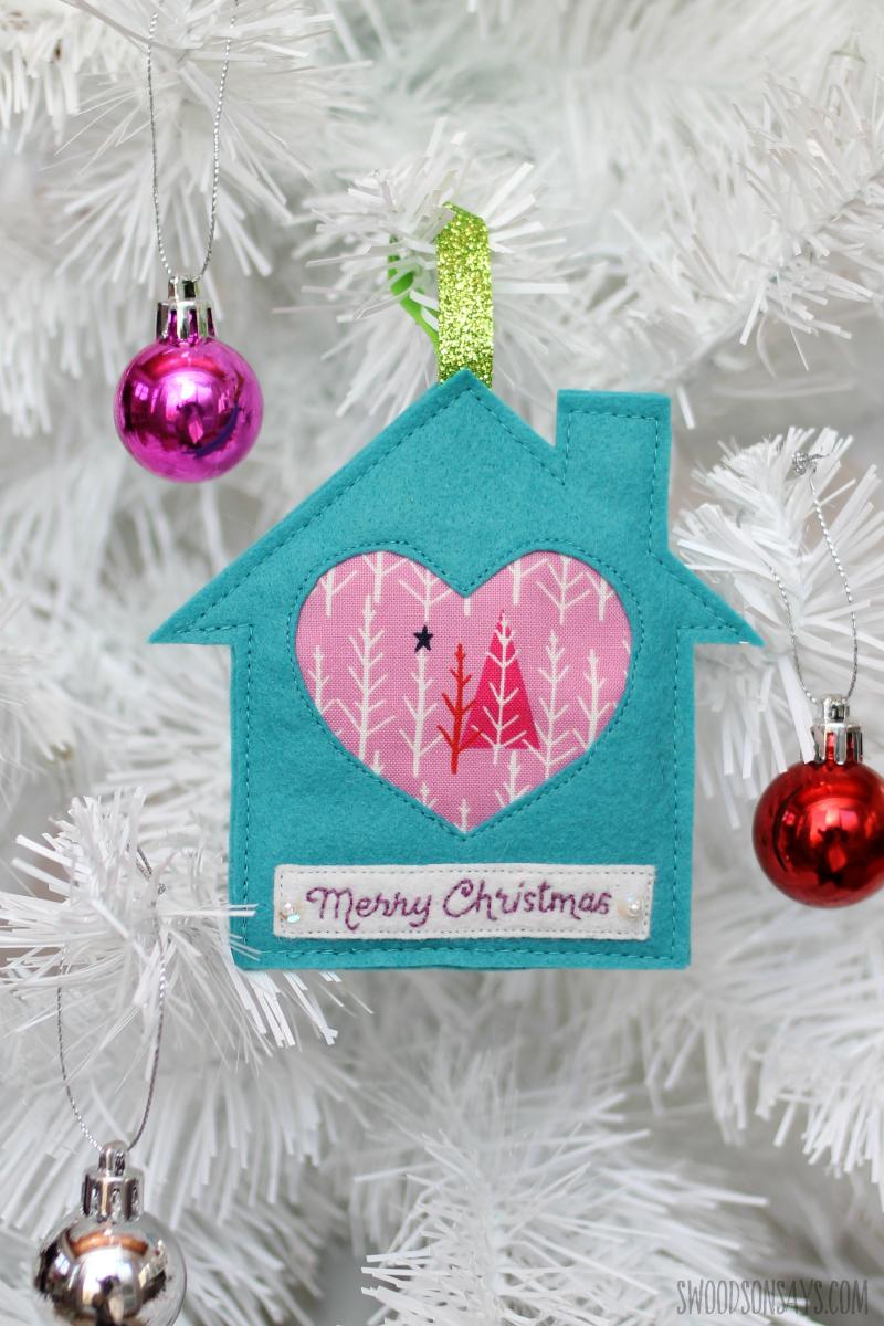 fabric scrap ornament diy