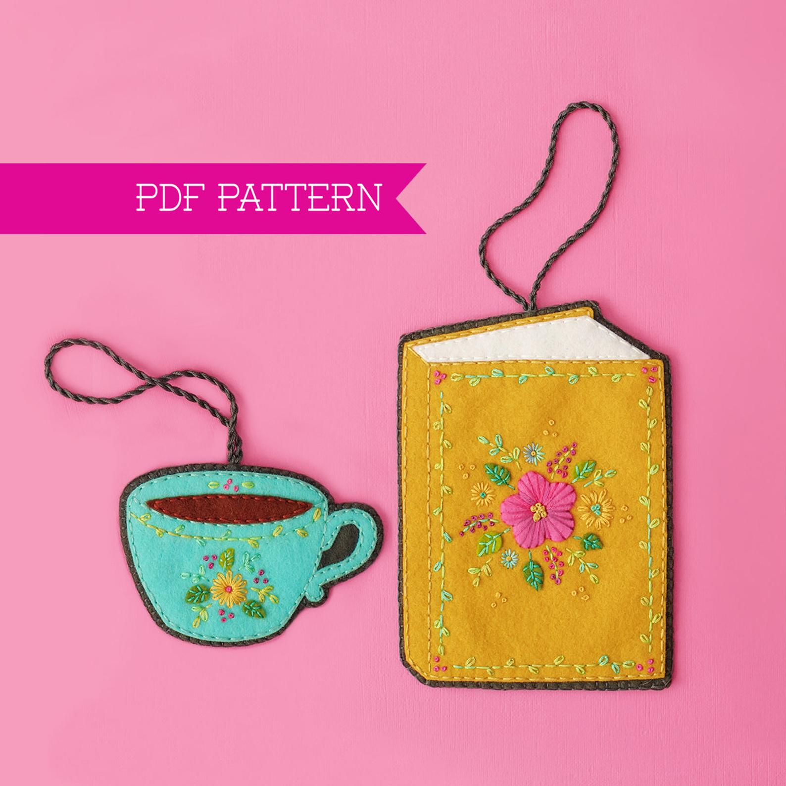 felt book ornament sewing pattern
